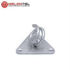 Steel C-Clamp Spiral Hook For Fiber Optic Cable Hdg Dacromet MT 1703