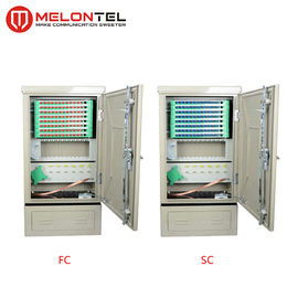 China Anti Corrosion SPCC Telecom Fiber Optic Cross Connect Cabinet 96 Core Floor Type Outdoor  MT 1302 factory