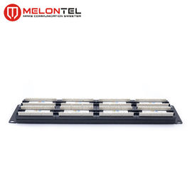 China 48 Port 2U Data Patch Panel  MT4016 , 19 Inch Cat6 Patch Panel With Dual IDC factory