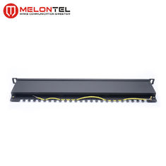 China Cat6 Data Patch Panel 19 Inch 24 Port 0.5U , Dual IDC UTP Patch Panel MT4018 factory
