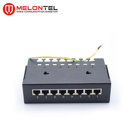 China Cat6 Wall Mount Patch Panel  MT 4020B , 1U 8 Port Cat5e Patch Panel With Shielded factory