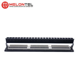 China Toolless 24 Port Cat6 Patch Panel 19 Inch 1U  MT 4025 With Led / Cable Manager factory