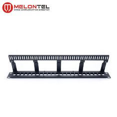 China Cable Manger Data Patch Panel 19 Inch 1U , MT 4201 24 Port Blank Patch Panel factory