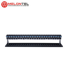 China 19 Inch Patch Panel  24 Port MT 4208  , STP Plastic Blank 1U Fiber Patch Panel factory