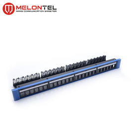 China 24 Port Blank Patch Panel  19 Inch 1U Steel Outer Frame  MT 4211 With Cable Manger factory