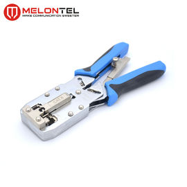 "8"" Metal STP Plug Crimping Tool 4P / 6P AMP Type RJ45 Plier With Ratchet"