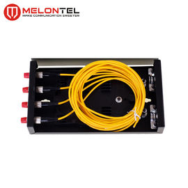 Indoor Metal Fiber Optic Distribution Box MT 1201 Wall Mounted Fully Loaded 4 Core With SC Pigtails