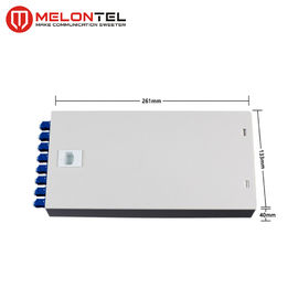 2 Metal Indoor Junction Box 8 Port With ST Adaptor For FTTH Cabling MT120