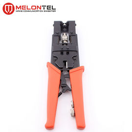 China CATV Coaxial Cable Copper Wire Tools , MT 8304 F Head Network Crimping Tool For F Connector factory
