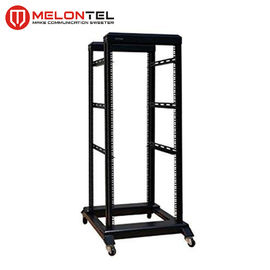 Black 19 Inch 42U Server Rack Modular Design MT 6032 , DDF 2 Column Open Frame Rack