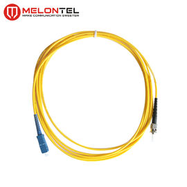China 0.3mm Yellow Fiber Optic Patch Cord Single Mode With SC-ST UPC Male Connector factory