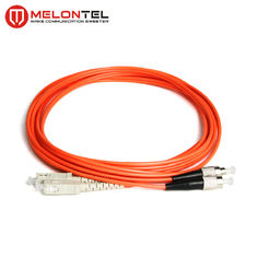 China Red Multimode Patch Cord MT-D1000 3.0mm Duplex Fiber Optic Cable With SC Connector factory