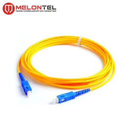 Yellow Single Mode SC SC Patch Cord  , UPC Male Connector Fiber Optic Pigtail