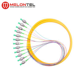12 Core Yellow Fiber Optic Patch Cord MT-S1000 Simplex With FC Male Connector