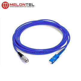 China Single Mode Fiber Optic Patch Cord Fiber Optic Armoured Patch Cord With SC-FC Connector MT S1000 factory
