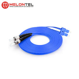 FTTH Duplex Fiber Optic ST SC Patch Cord Armoured  Single Mode MT D1000