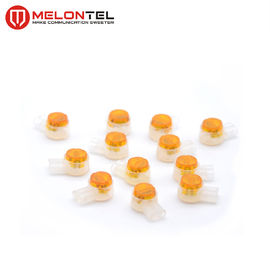 China Orange UY2 3M Connectors MT 3802 ,  Female Network Cable Connector 2 Pin Copper factory