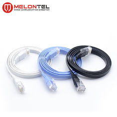 Colourful RJ45 Network Patch Cord  MT 5004 , Cat6 Flat LAN Patch Cord With Boot