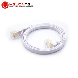8 Conductors Cat5e Flat Network Patch Cord MT-5005-90 4PR 24AWG Right Angle