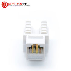 China PC Cat5e RJ45 Female Connector Dual IDC 8 Pin  MT 5102 With Cover factory