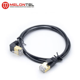 Custom Length RJ45 STP Patch Cable  MT 5006  , Black Cat5e Patch Cord With Boot
