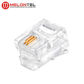 China MT-5050 RJ11 Modular Plug Gold Plated 4P2C RJ11 Cat3 Male Plug For Telephone Outlet factory