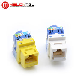 China Rotary Toolless Keystone Jack 8 Pin PC Material MT 5108 For Telephone Outlet factory