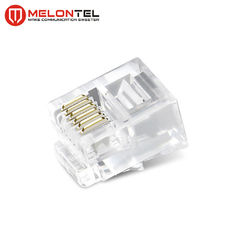 China MT-5052A RJ12 Modular Plug RJ12 6P6C Male Connector CAT3 Copper Cable Plug For Network factory