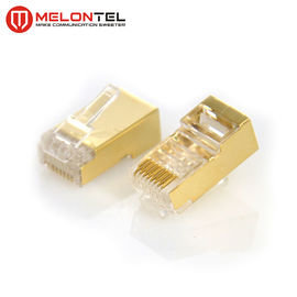China MT-5053C RJ45 Modular Plug RJ45 8P8C Cat6 FTP Plug Cat6A Metal Shield Plug With Gold Plated factory
