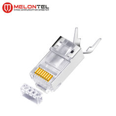 China MT-5054 RJ45 Modular Plug Metal Shield RJ45 8P8C Cat7 FTP Plug With Gold Plated factory