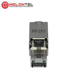 China MT-5056B RJ45 Modular Plug Metal Shield RJ45 Toolless Cat6 Cat7 STP Type Plug With Gold Plated factory