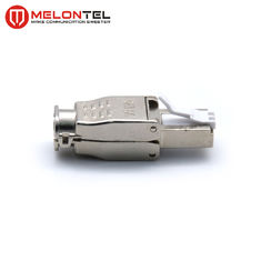 China MT-5056C RJ45 Modular Plug Toolless Type RJ45 Metal Shield Plug With Gold Plated factory