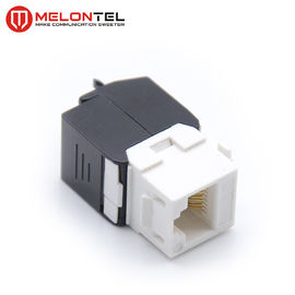 China PC Cat6a Keystone Jack RJ45 Female MT 5107 , 180D Toolless Keystone Modular Jack For Wall Outlet factory