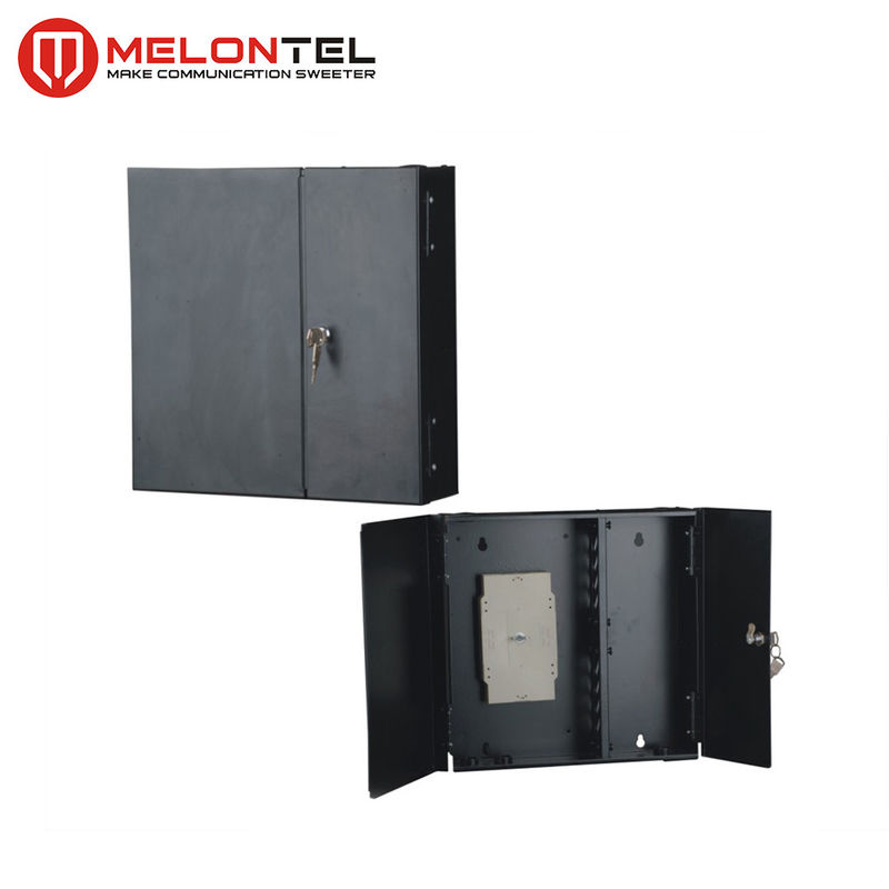 Black Indoor Metal FTTX Fiber Optic Cabinet MT1002 Corridor Wall Mount Type 12 /144 Core supplier