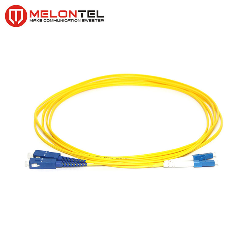 Duplex Yellow Fiber Optic Patch Cord MT-D1000 With SC - LC UPC Connector supplier