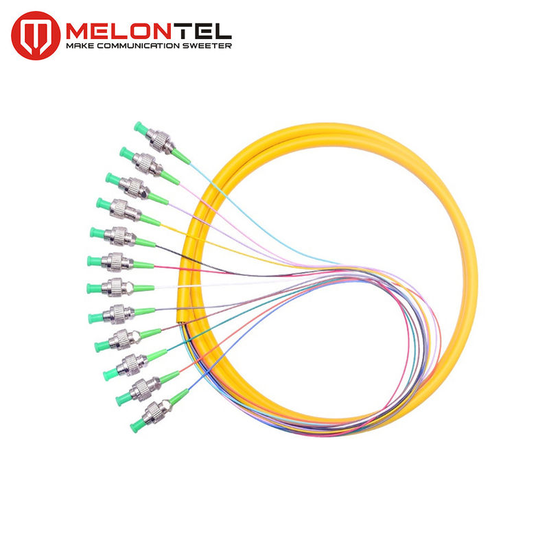 12 Core Yellow Fiber Optic Patch Cord MT-S1000 Simplex With FC Male Connector supplier
