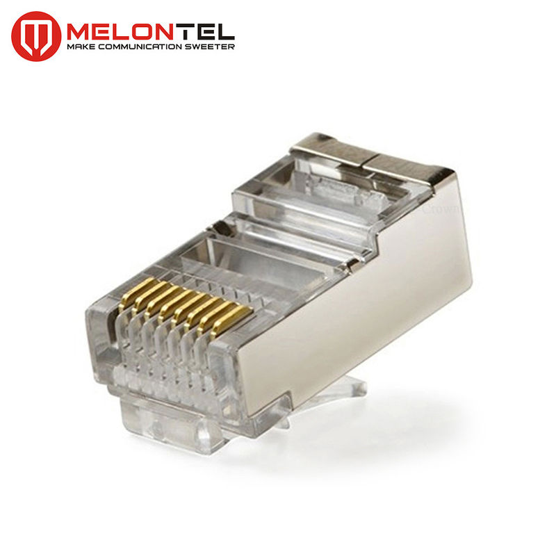 MT-5053B RJ45 Modular Plug CAT.5E Cat.6 8P8C STP Network Patch Cord Plug With Gold Plated supplier
