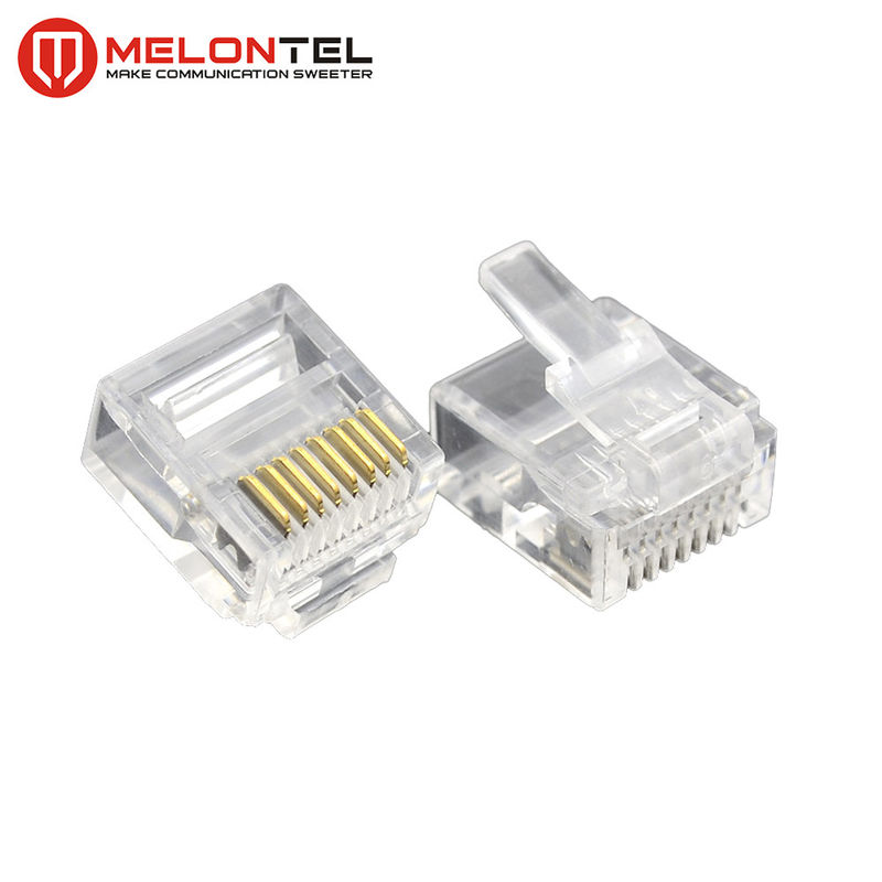 MT-5053S RJ45 Modular Plug  Gold Plated RJ45 8P8C Small Plug Cat5E Cat6 Cat7 Modular Connector supplier