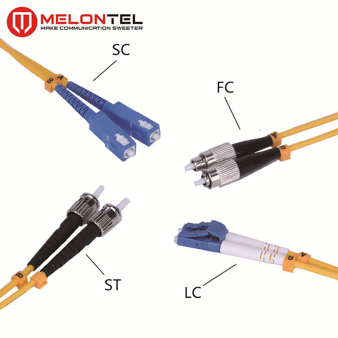 Red Multimode Patch Cord MT-D1000 3.0mm Duplex Fiber Optic Cable With SC Connector