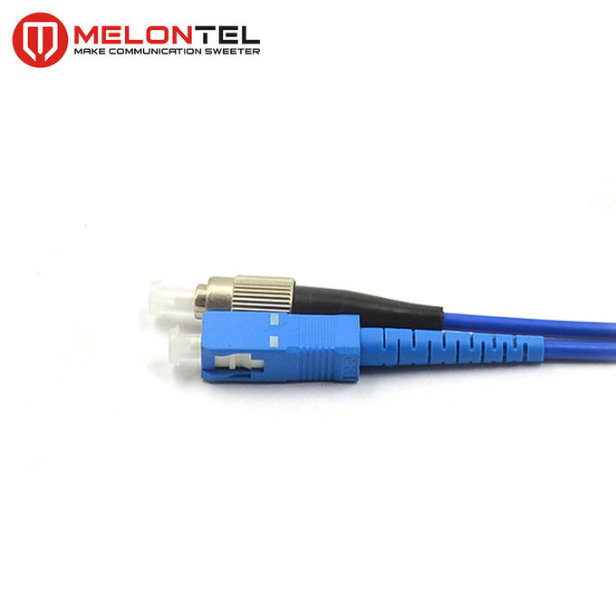 Single Mode Fiber Optic Patch Cord Fiber Optic Armoured Patch Cord With SC-FC Connector MT S1000