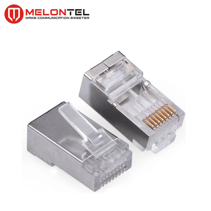 MT-5053B RJ45 Modular Plug CAT.5E Cat.6 8P8C STP Network Patch Cord Plug With Gold Plated